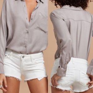 Aritzia Talula The OC Shorts White Denim Size 27